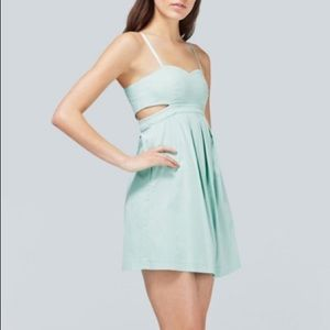 Aritzia - Talula mint dress with side cutouts